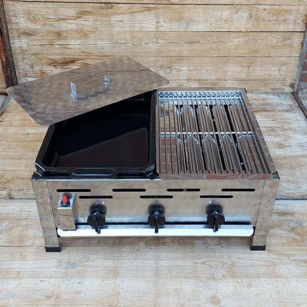 Carbecue Braadpan Emaille Combinatie