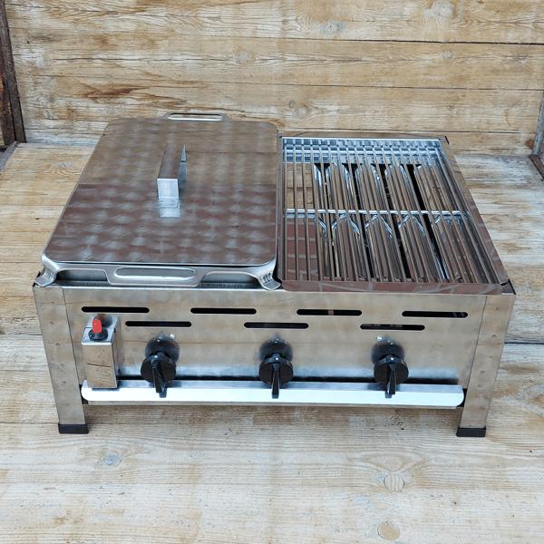 Carbecue Roestvrij Staal Braadpan Combinatie